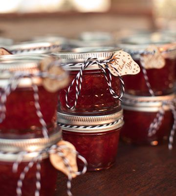 Jam favor for Santorini wedding