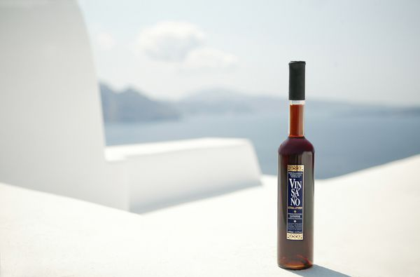 Vinsanto wine-Santorini wedding favor