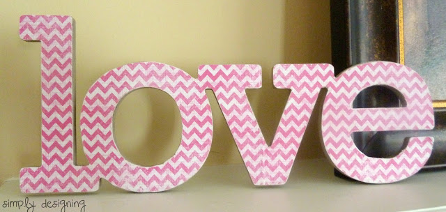 DIY love sign
