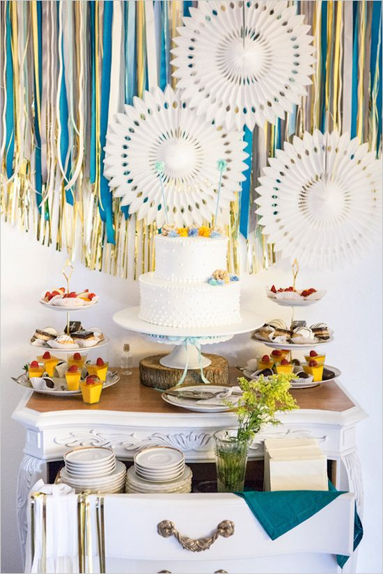 Dessert table in joyous colours