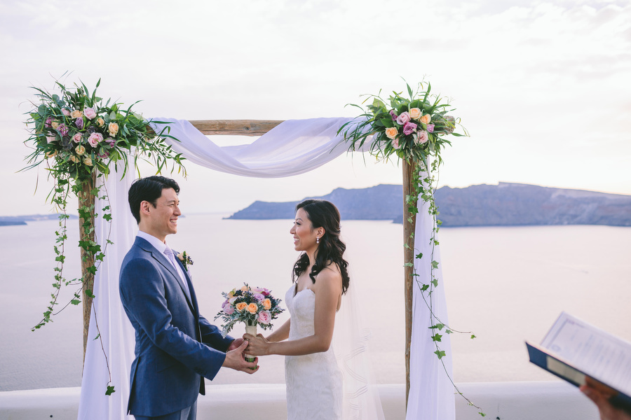 Elegant wedding arch- Wedding in Greece