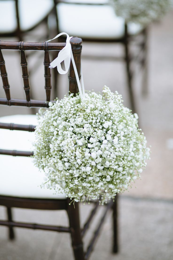 Wedding Aisle Inspiration-baby's breath