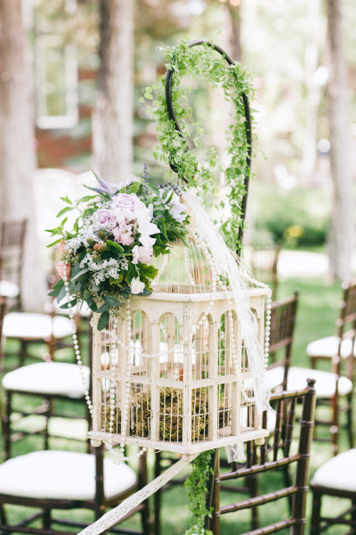 Wedding Aisle Inspiration-hanging cage| View the full gallery here:http://tietheknotsantorini.com/santorini-wedding-aisle-inspiration