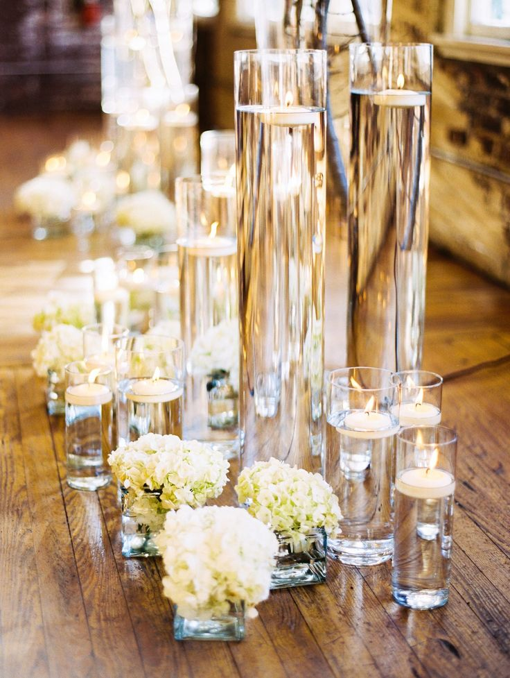 Wedding Aisle Inspiration Candles And Flowers