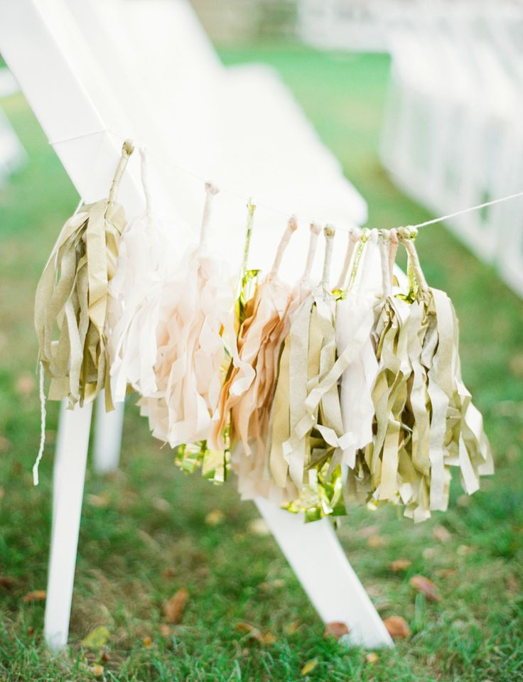 Santorini wedding inspiration 15 ways to decorate your wedding wedding aisle inspiration tassel garland junglespirit Image collections