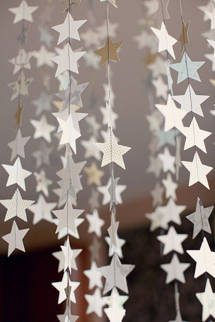 DIY Christmas decor-star garland