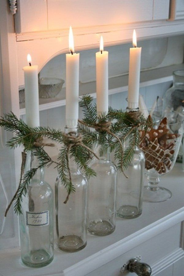 Christmas centerpiece-Candles