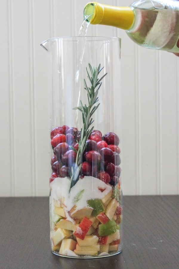Cranberry & Rosemary White Sangria