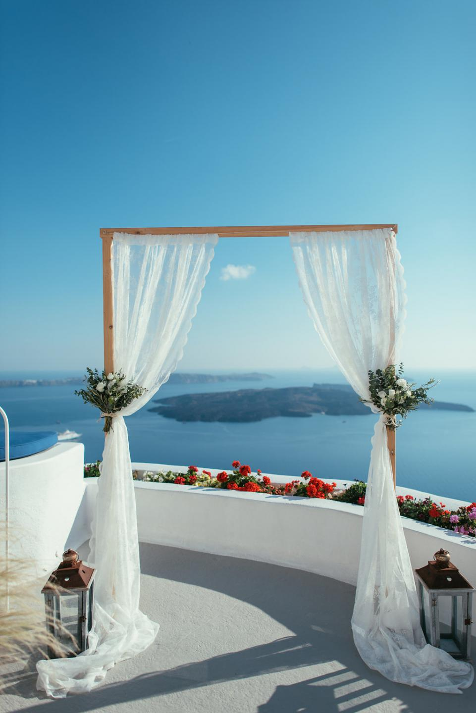 Wedding ceremony decor- Santorini