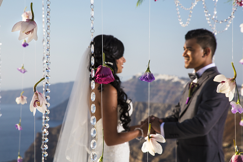 Whimsical Santorini wedding