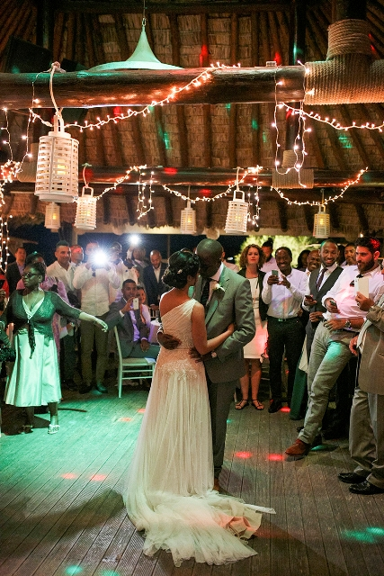 Wedding reception-fairy lights