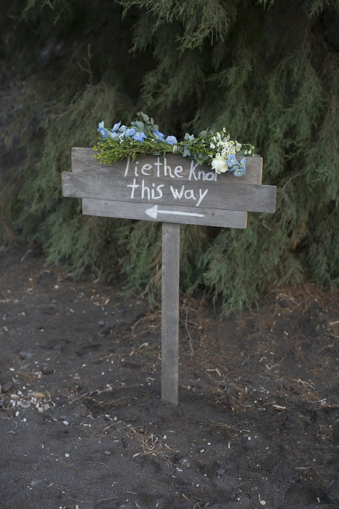 Beach wedding in Santorini-Wedding sign