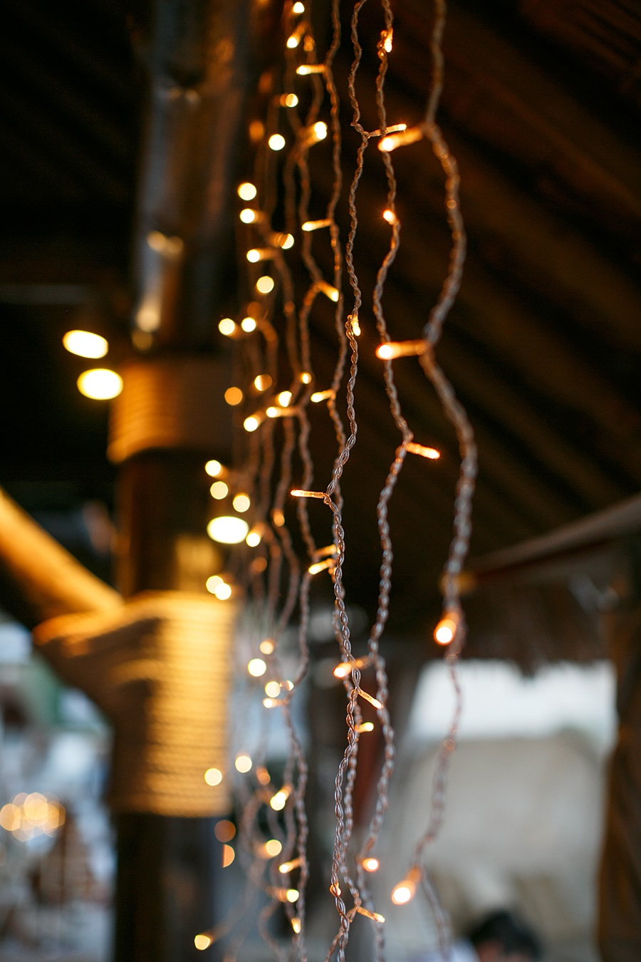 Wedding reception decor- Fairy lights