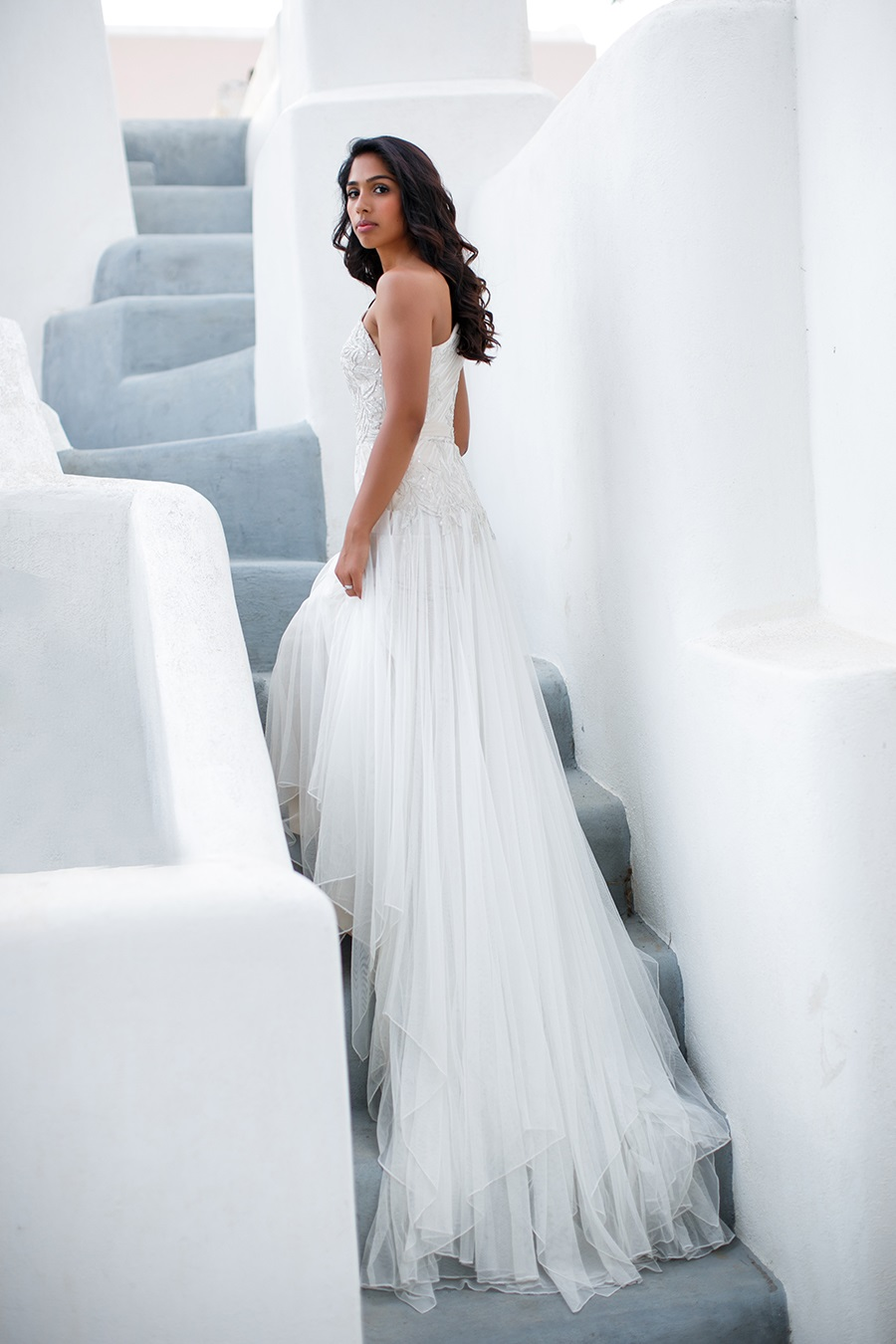 Boho wedding gown- Santorini wedding