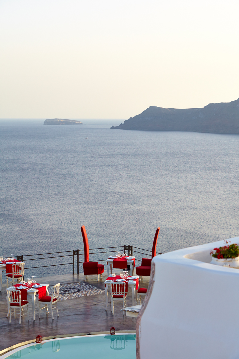 Santorini marriage proposal-Andronis Boutique restaurant