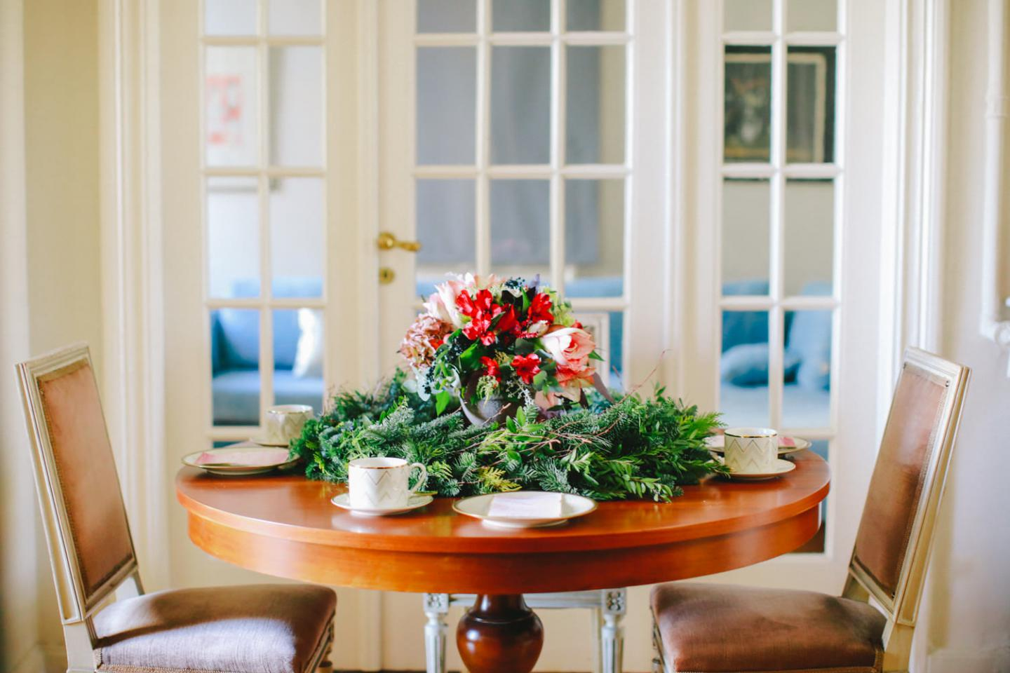 Christmas tea party tablescape