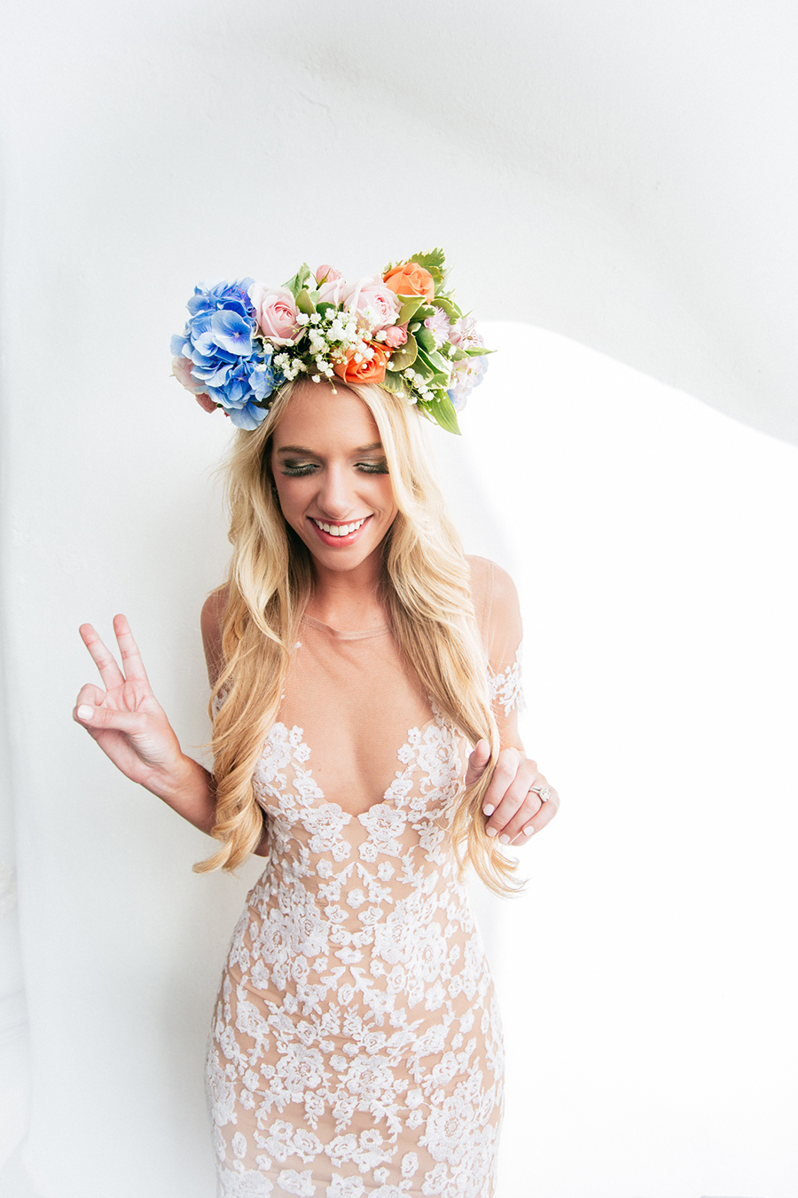 Lush flower crown