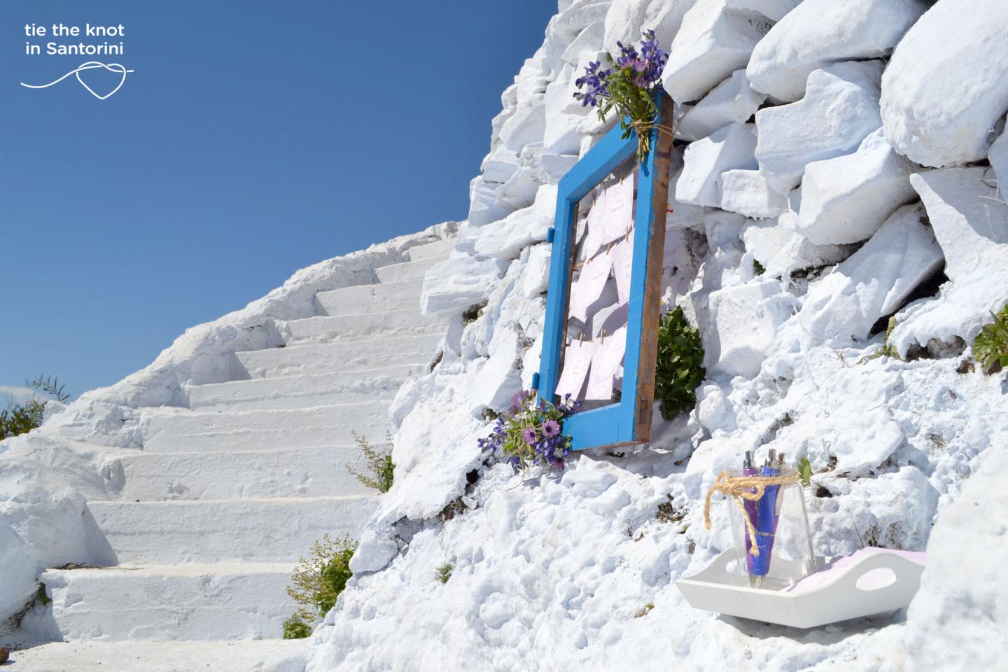 DIY Santorini Wedding