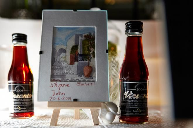 Santorini wedding favors- Santorini paintings