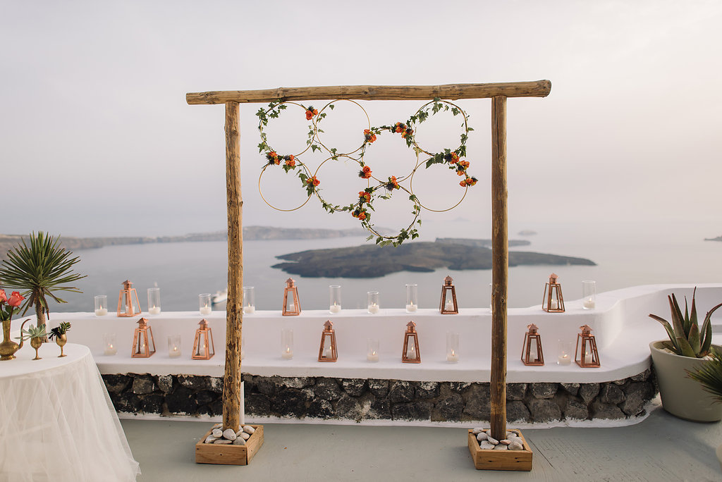 Bohemian copper wedding in Greece