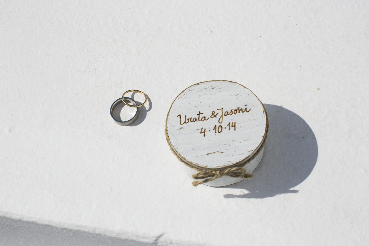 Wedding in Santorini-ring box