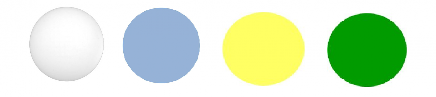 Powder blue and yellow palette