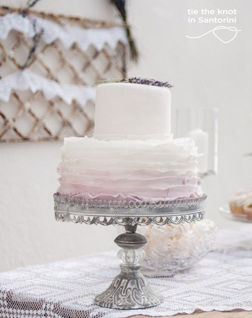 Santorini Wedding-Wedding Cake Inspiration