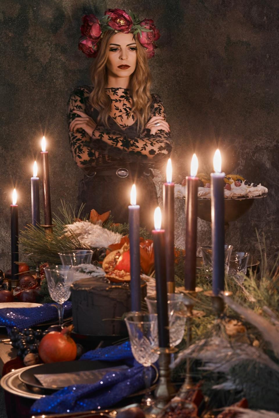 Bohemian Christmas Celebration in Moody tones
