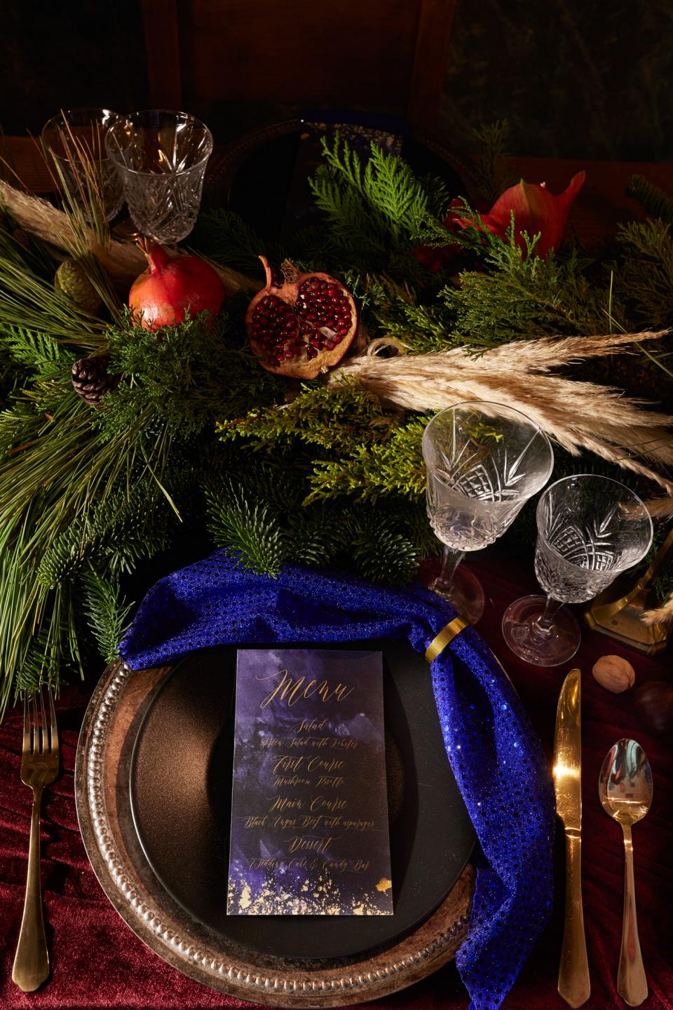 Moody Stationery -Christmas menu