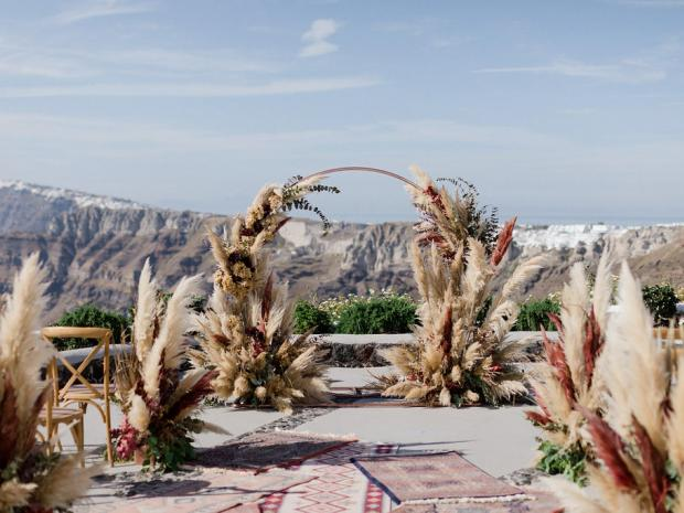 Pampas wedding in Greece