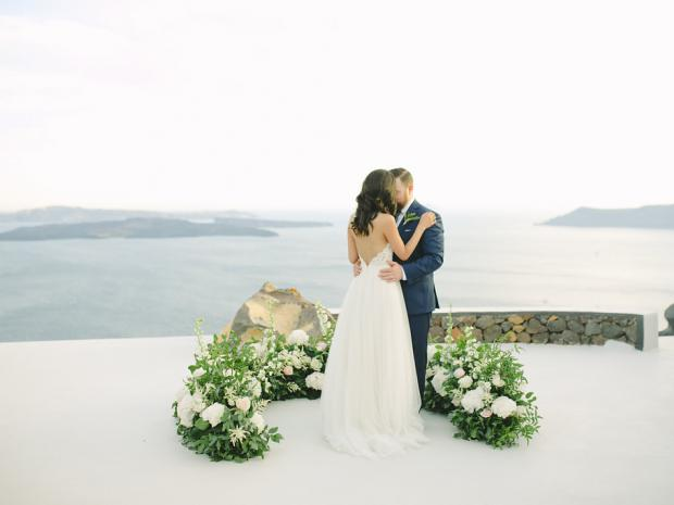 Modern wedding in Greece