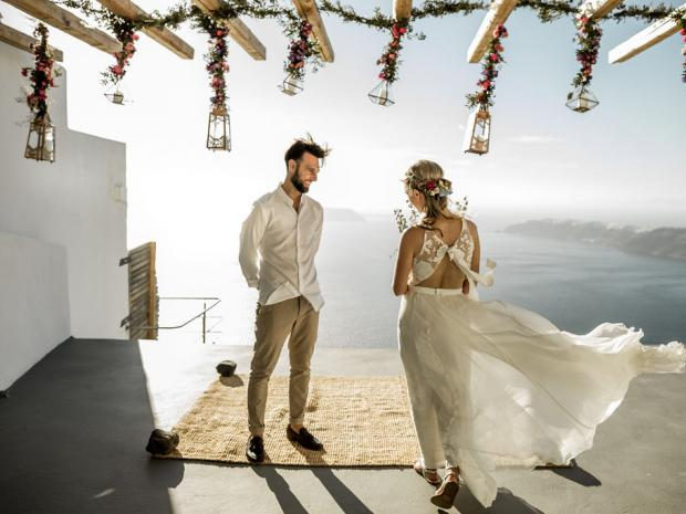 Whimsical & bohemian wedding in Greece