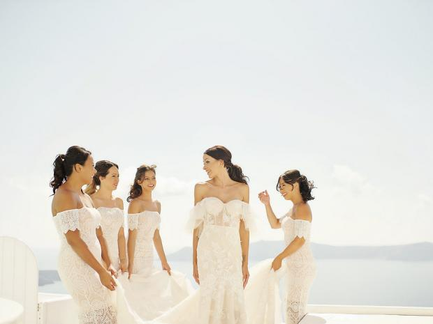 White elegant wedding in Greece