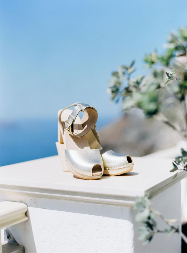 Clogs wedding shoes- Bohemian wedding in Greece