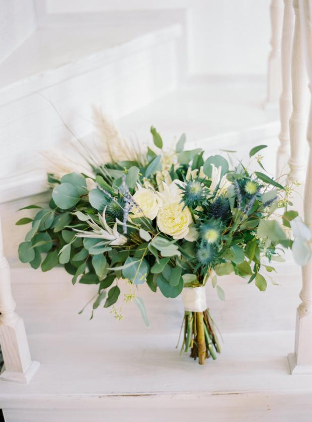 Bohemian -greenery  bridal bouquet