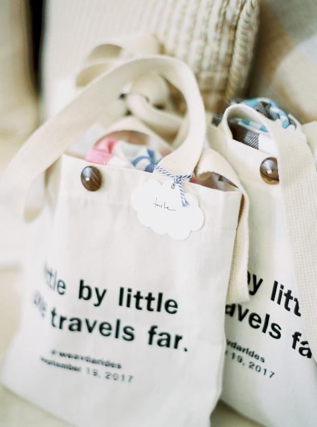 Welcome bags- Destination wedding in Greece