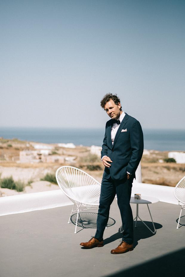 Santorini Groom- Wedding in Greece