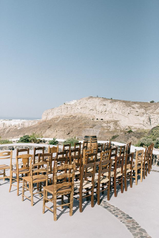 Mismatched wedding chairs - wedding in Greece
