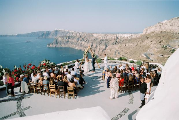Modern bohemian wedding in Greece- Venetsanos Winery