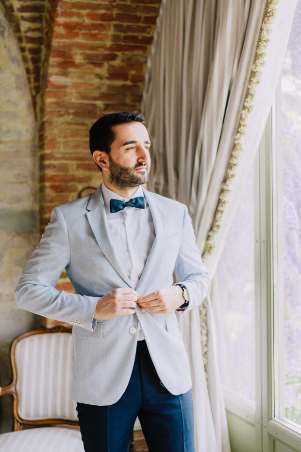Groom getting ready- Tuscany wedding