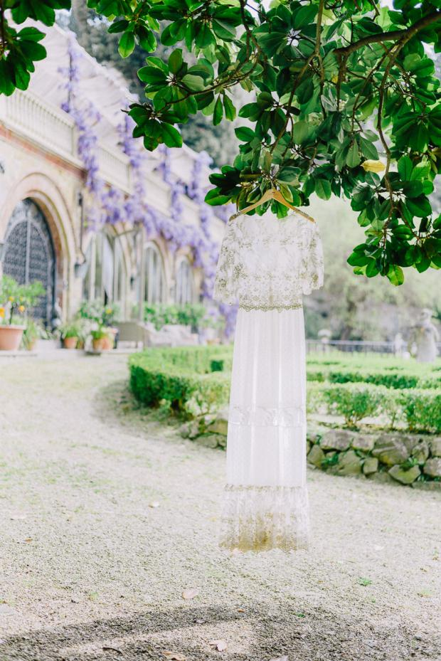 Bohemian wedding dress- Italy wedding