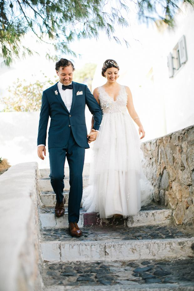 Modern & bohemian  wedding in Greece