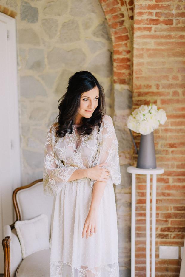 Bride getting ready- Tuscany wedding