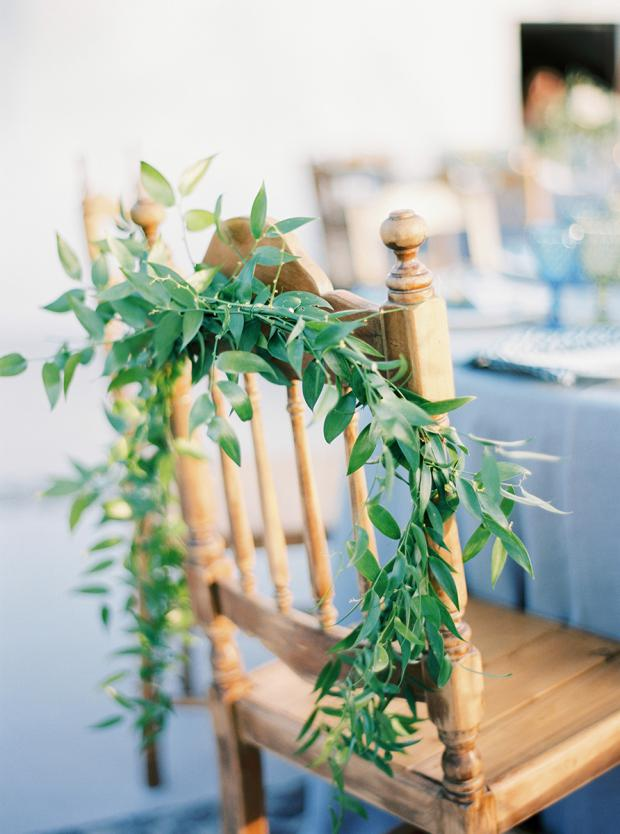 Wedding chairs-bohemian wedding in Greece