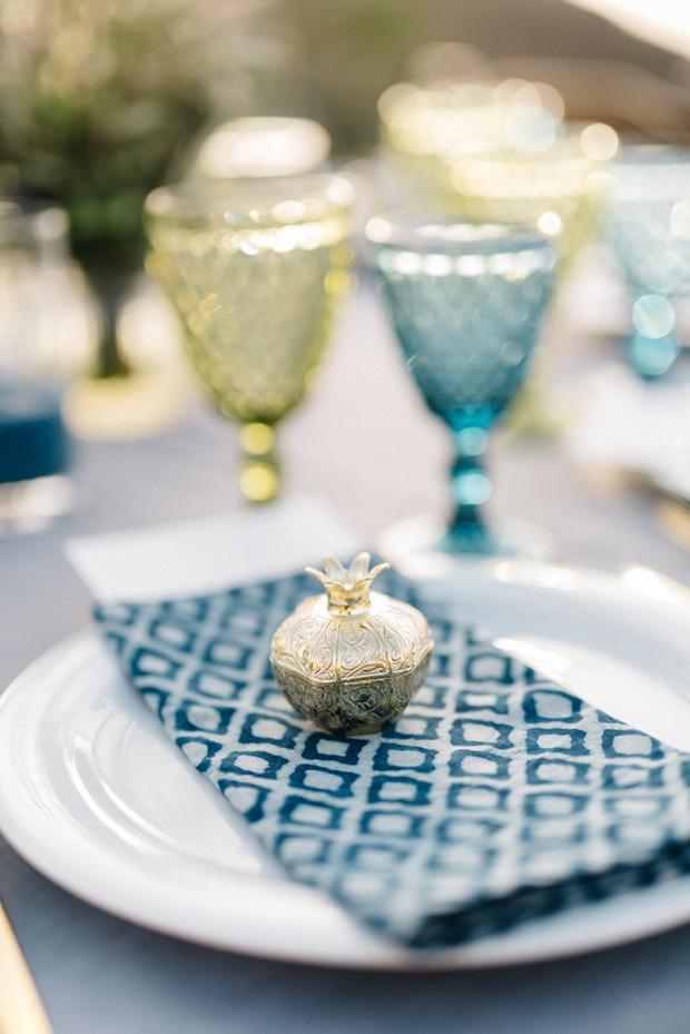 Gold pomegranate-  Bohemian wedding in Greece