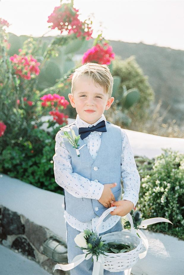 Page boy - Santorini wedding