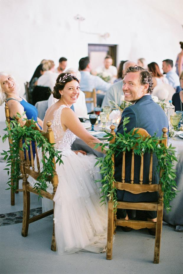 Bohemian & modern wedding in Greece