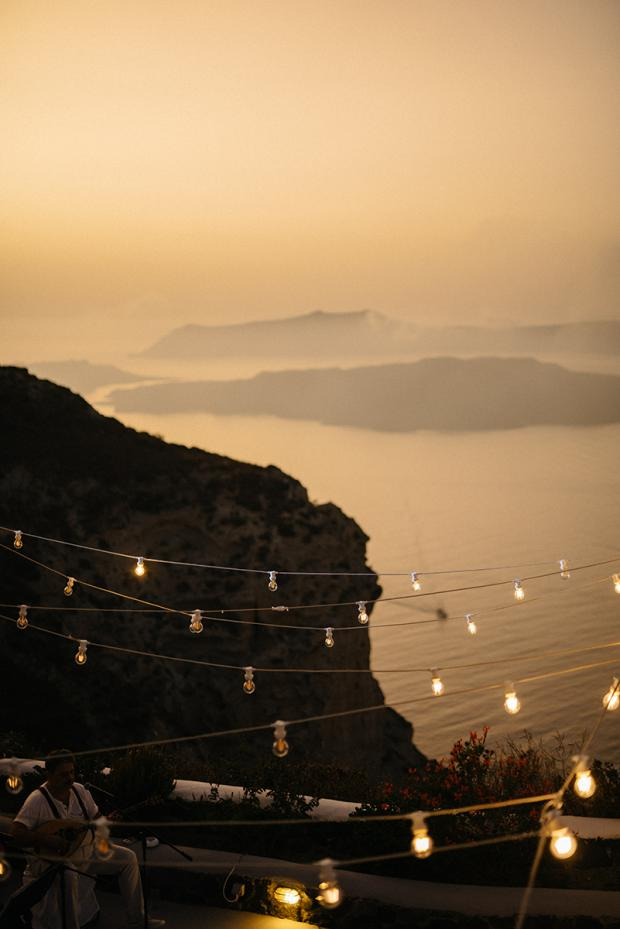 Bistro lights- Wedding in Greece