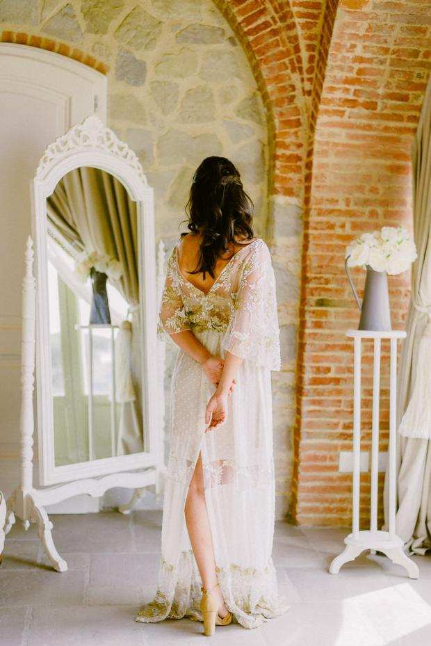 Bride getting ready- Tuscany wedding