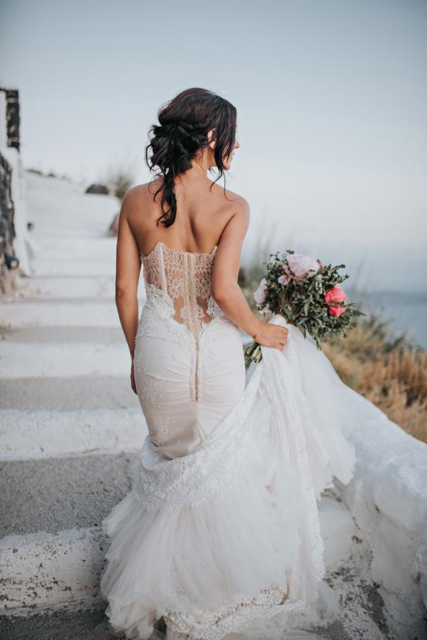 Beautiful wedding dress- Santorini